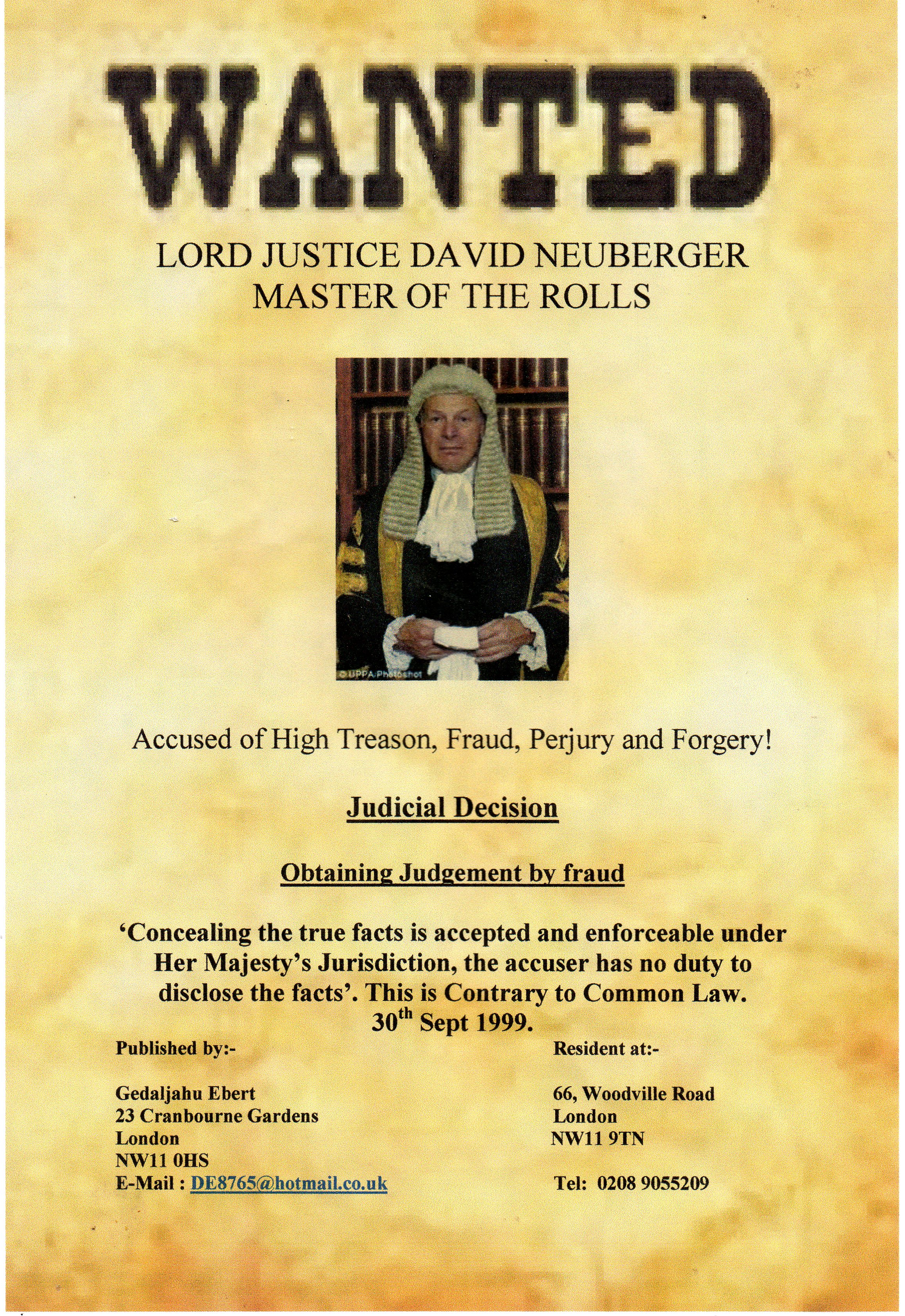 WANTED: Lord Neuberger